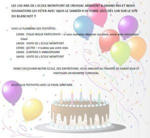 150 ans de l'école @ Site du Blanchot